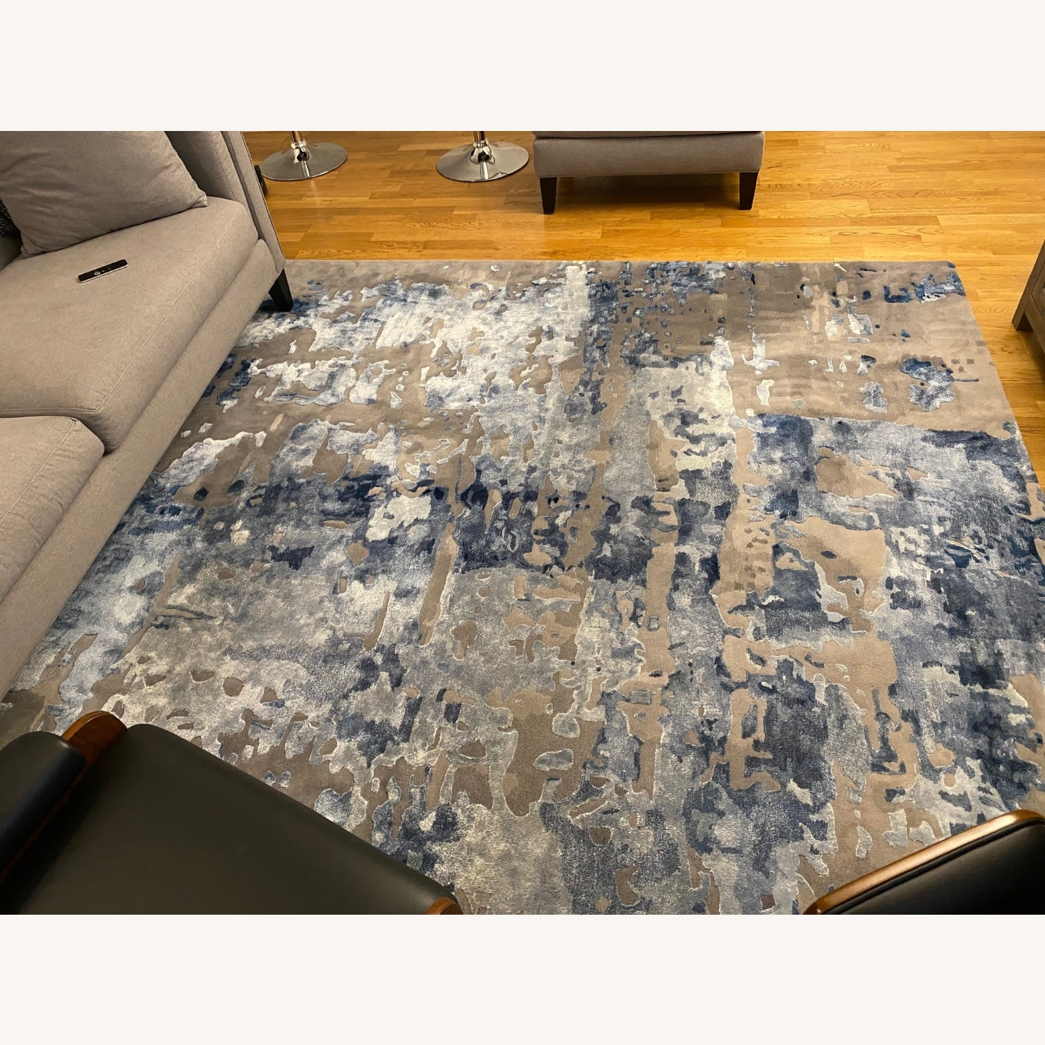 Nourison Blue Gray Abstract Area Rug 8ft x 10ft - image-2