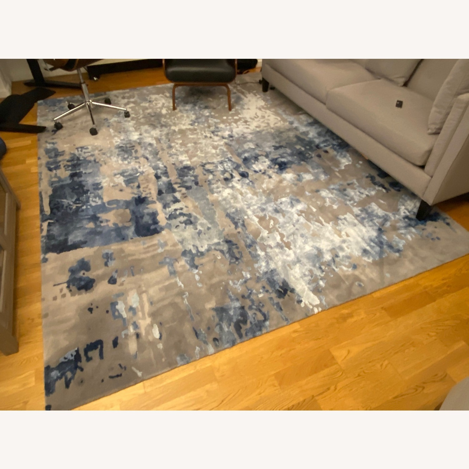 Nourison Blue Gray Abstract Area Rug 8ft x 10ft - image-4