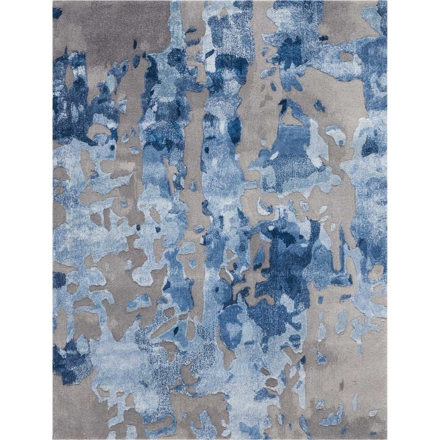 Nourison Blue Gray Abstract Area Rug 8ft x 10ft - image-3
