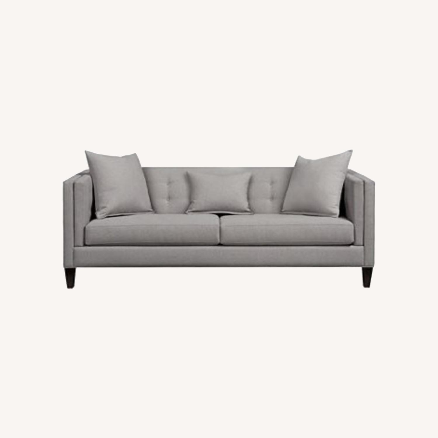 Macy's Braylei 88inch Track Arm Sofa Heather Gray - image-0