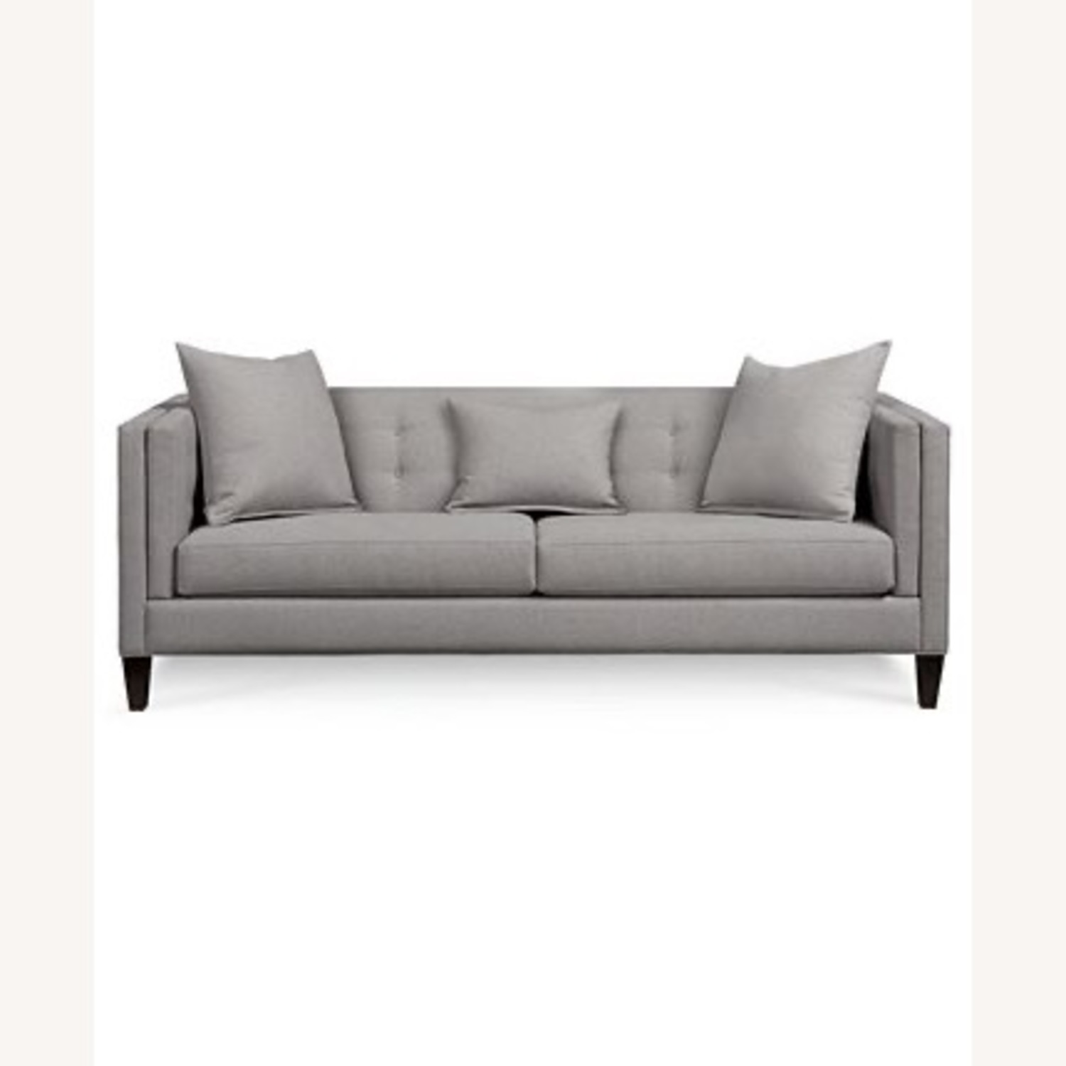 Macy's Braylei 88inch Track Arm Sofa Heather Gray - image-1