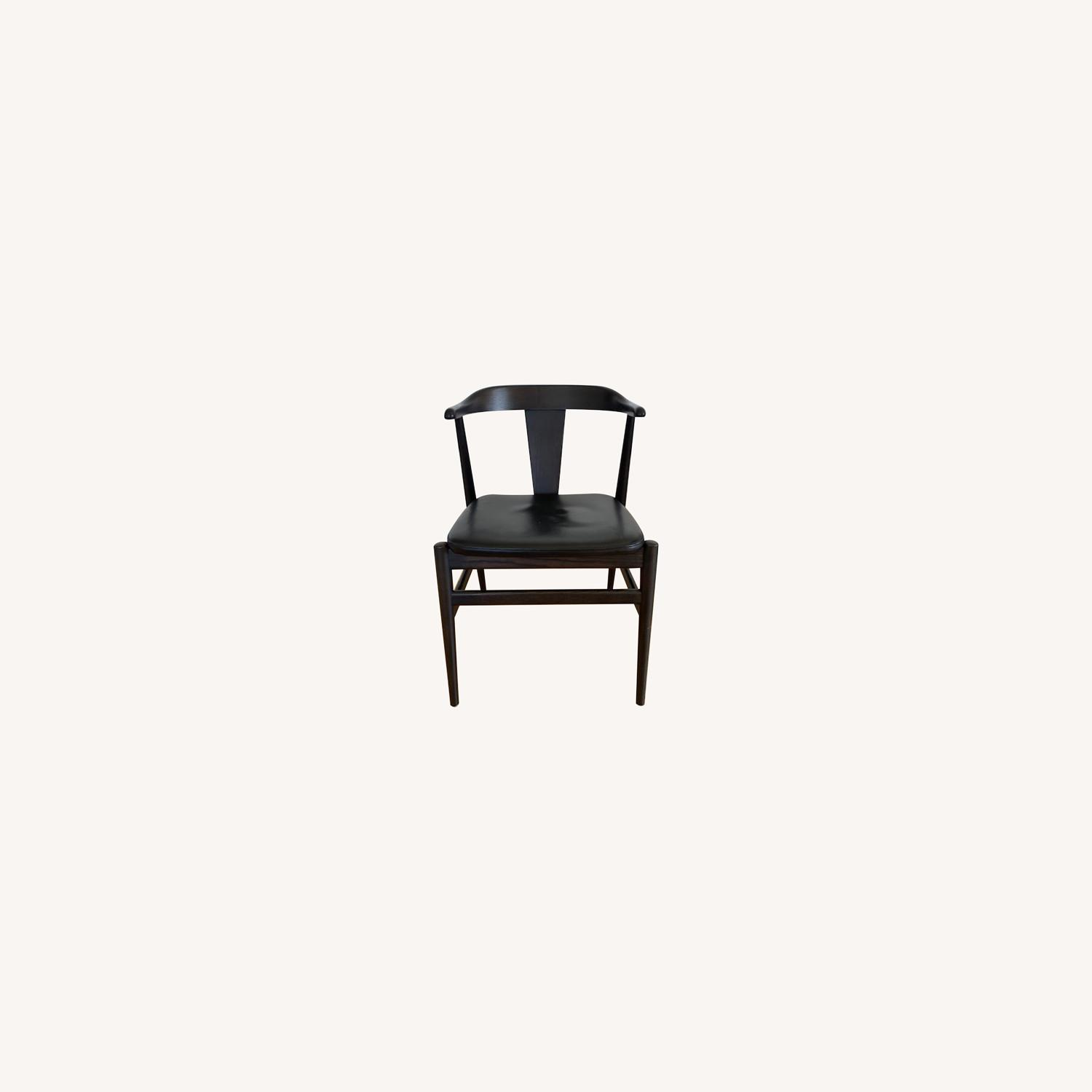 Room and Board Evans Chairs with Leather seats - image-0