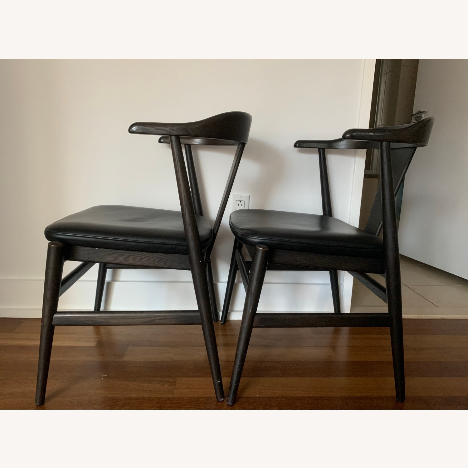 Room and Board Evans Chairs with Leather seats - image-5