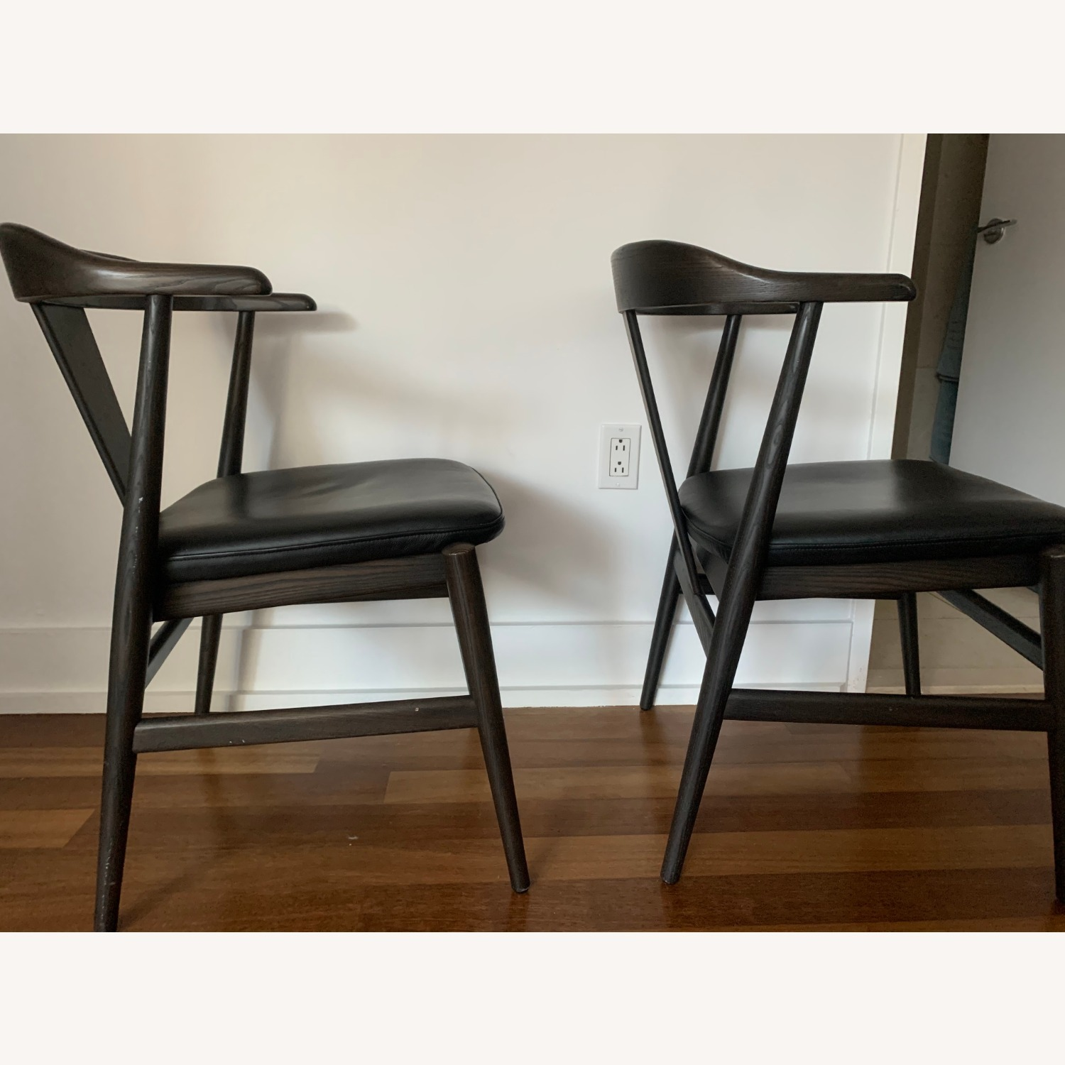 Room and Board Evans Chairs with Leather seats - image-7