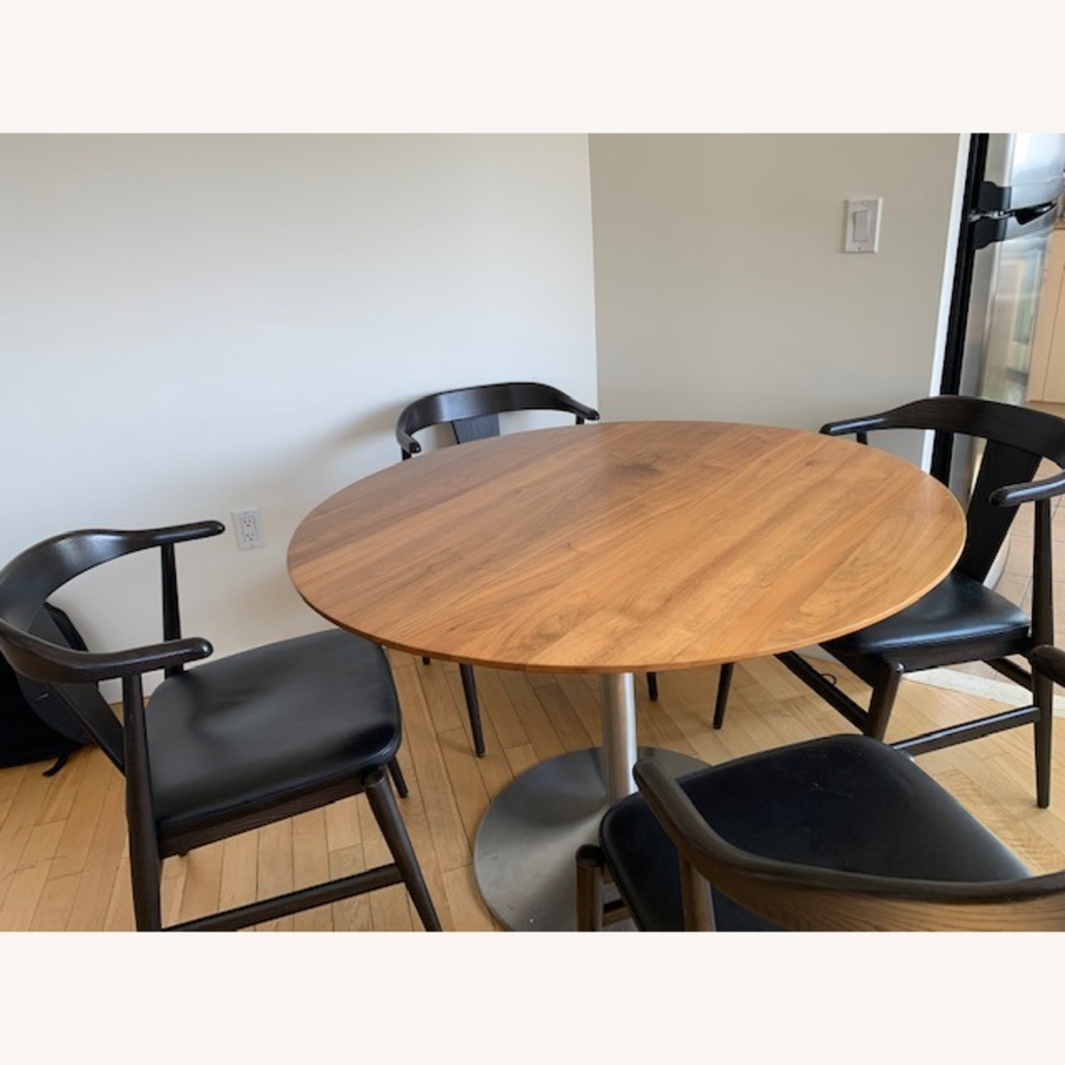 Room and Board Evans Chairs with Leather seats - image-4