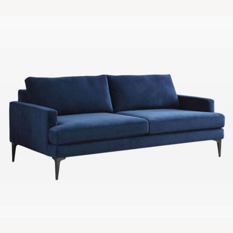 West Elm Andes Sofa | Ink Blue - image-1