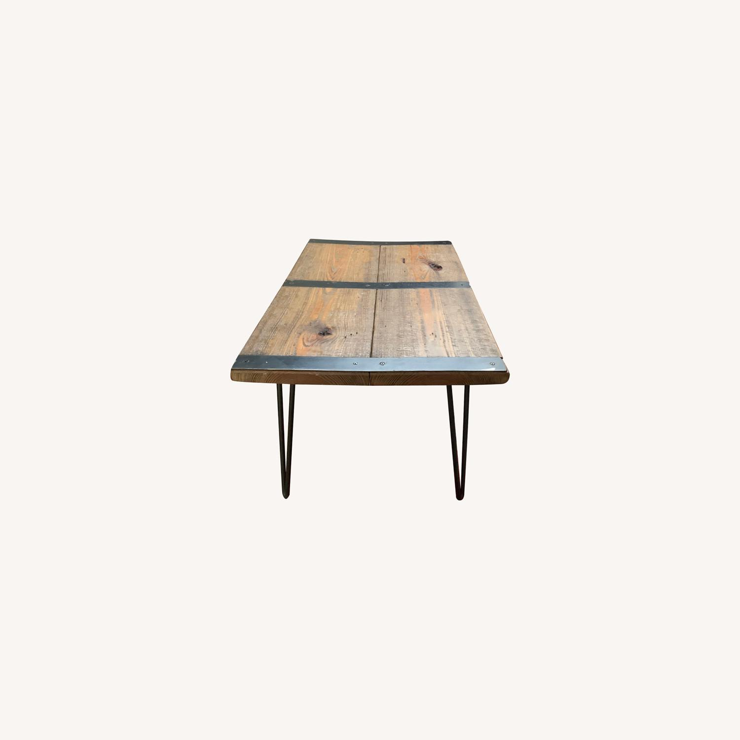 Wood Coffee Table with Hairpin Legs - image-0