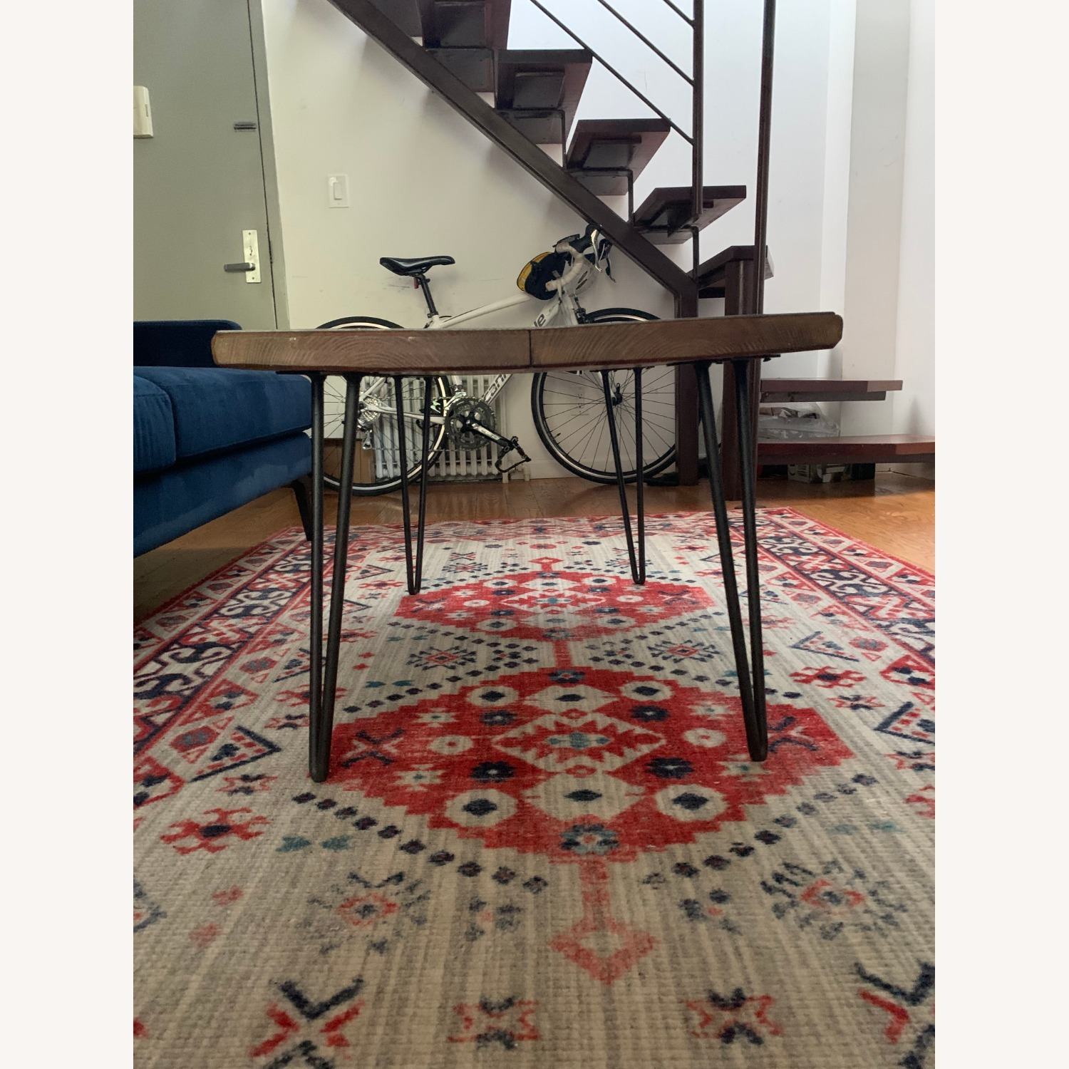Wood Coffee Table with Hairpin Legs - image-3
