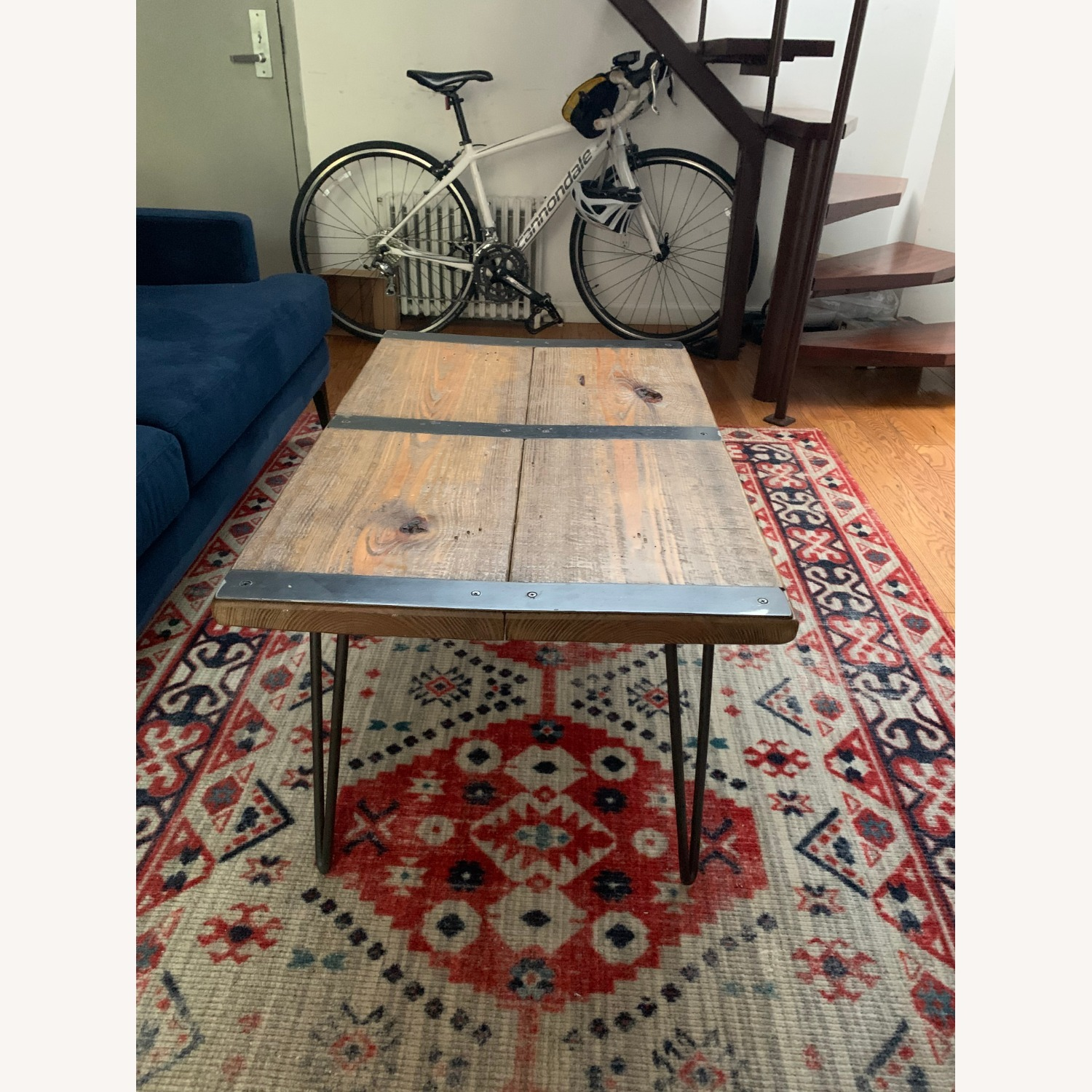 Wood Coffee Table with Hairpin Legs - image-2