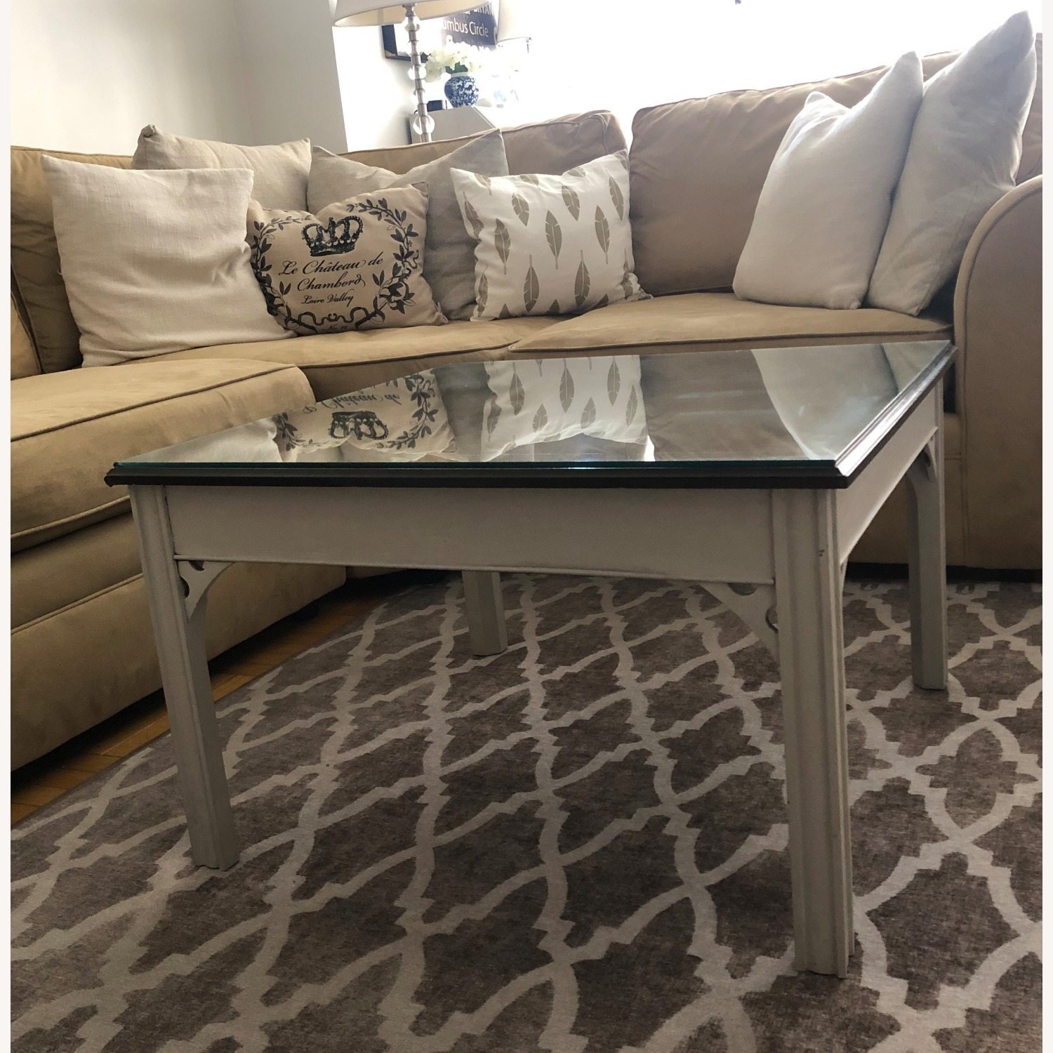 Antique Square Coffee Table - image-1