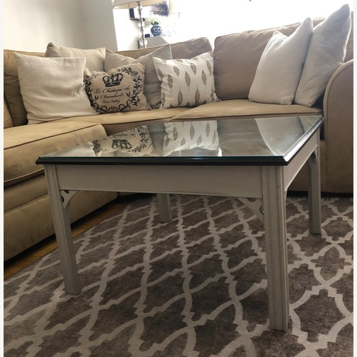 Used Antique Square Coffee Table for sale on AptDeco