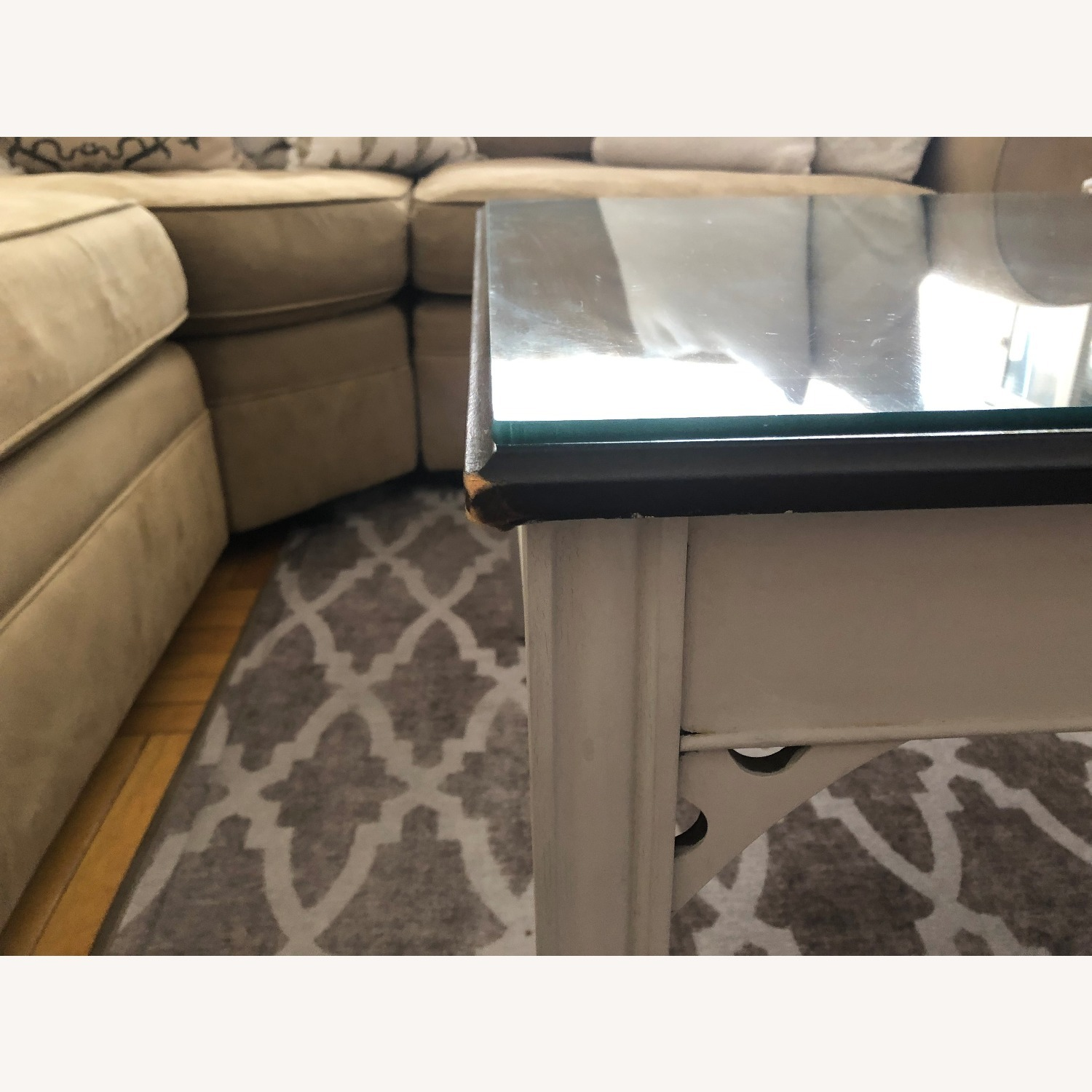 Antique Square Coffee Table - image-4