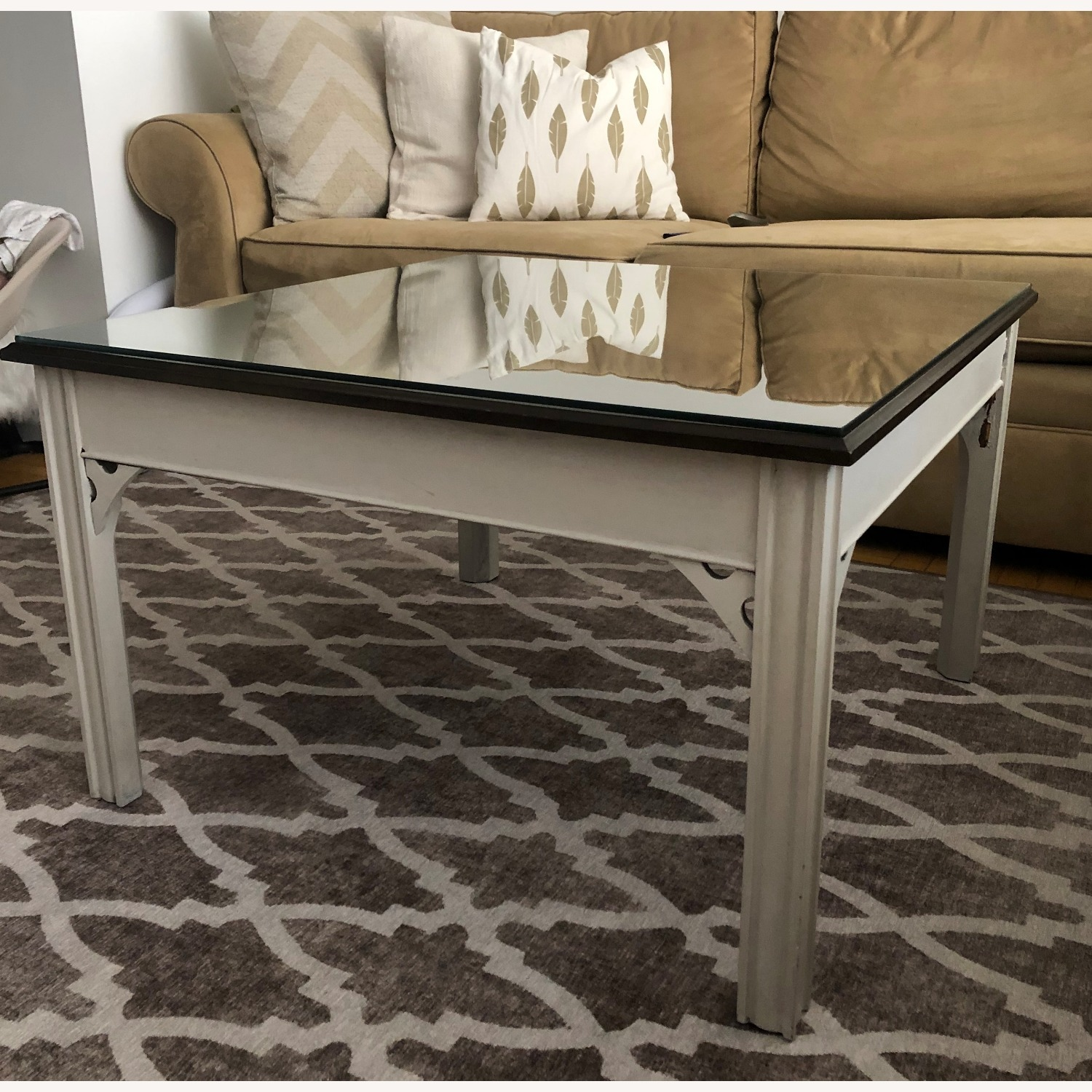 Antique Square Coffee Table - image-0