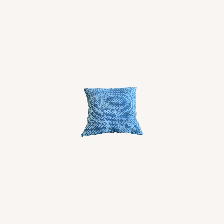 Vintage - Hmong Block Print Pillow - Indigo - image-0