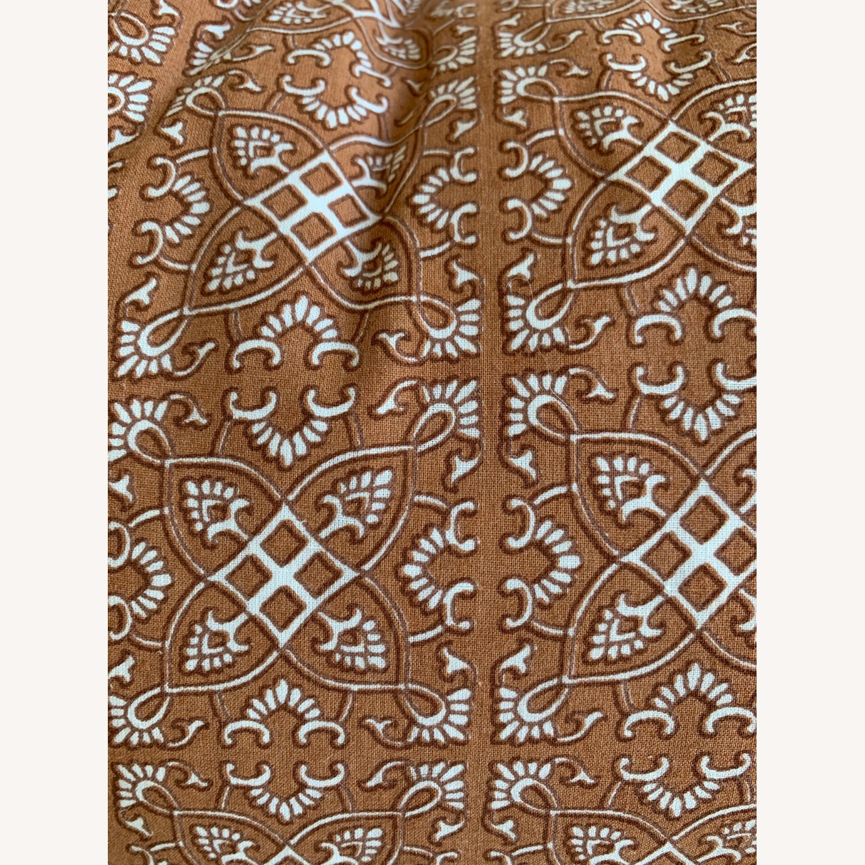 Vintage - Hmong Block Print Pillow - Terra Cotta - image-3