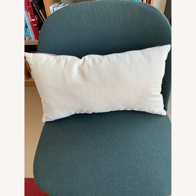 Vintage - Hmong Block Print Pillow - Terra Cotta - image-2