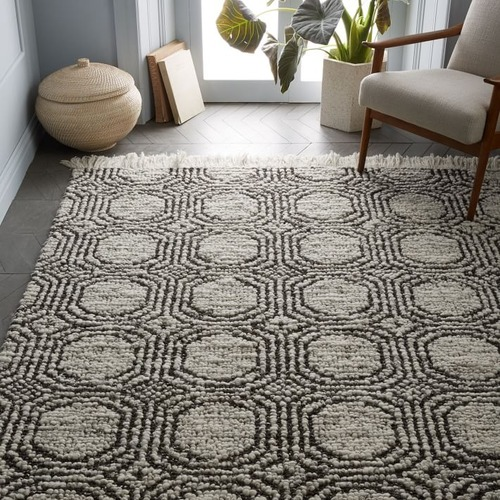 Used West Elm Concentric Circle Rug for sale on AptDeco
