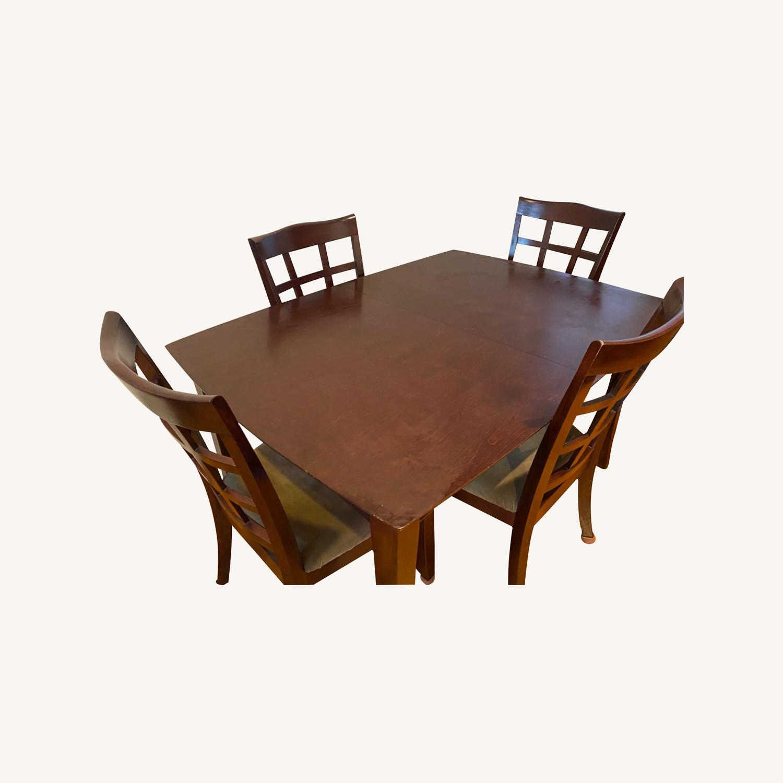 Solid Wood Dining Set - image-0