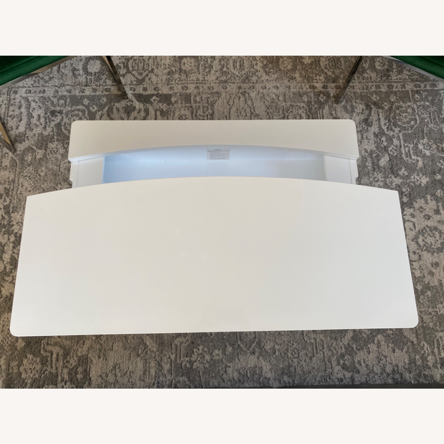 White Lacquer Lift Top Coffee Table - image-8