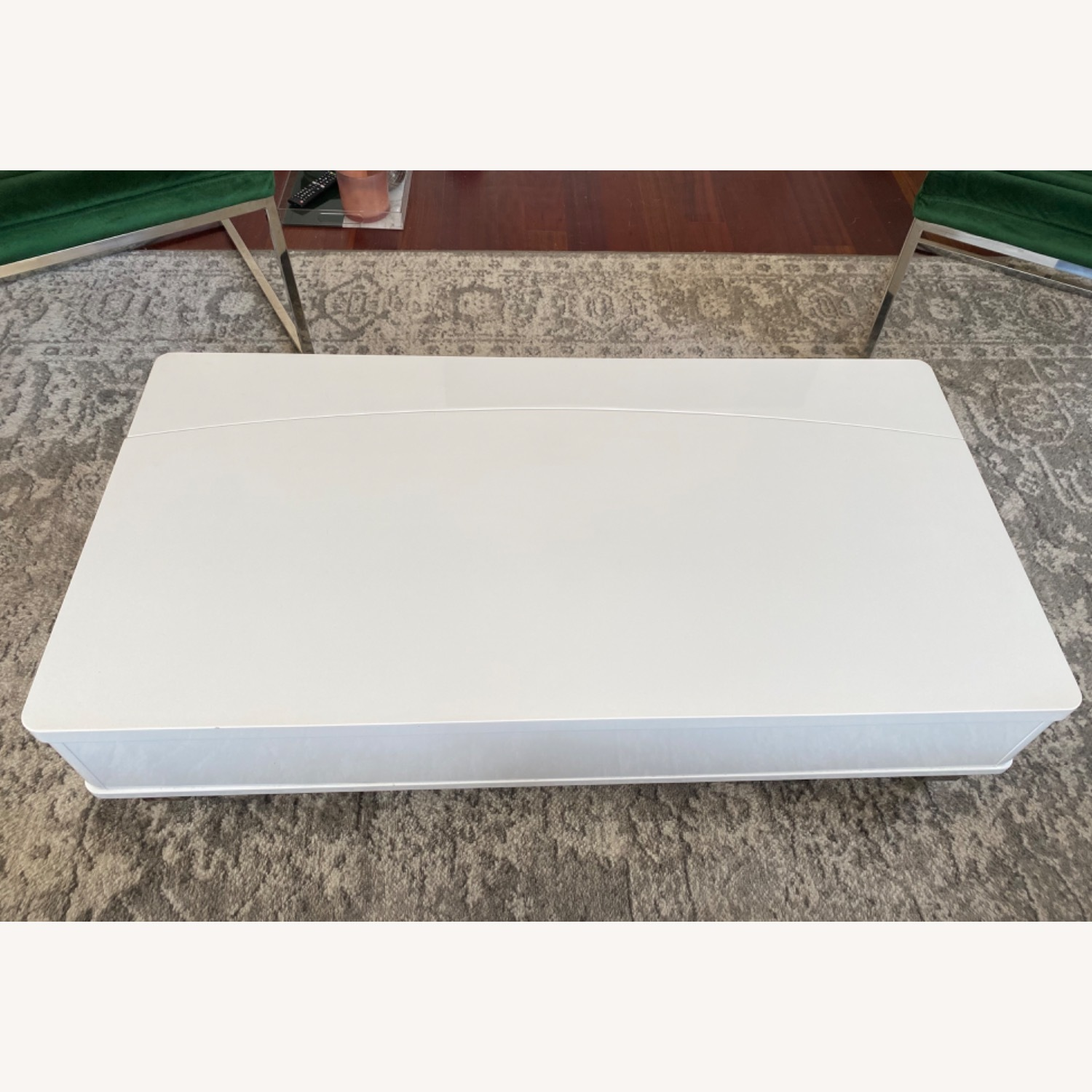 White Lacquer Lift Top Coffee Table - image-4