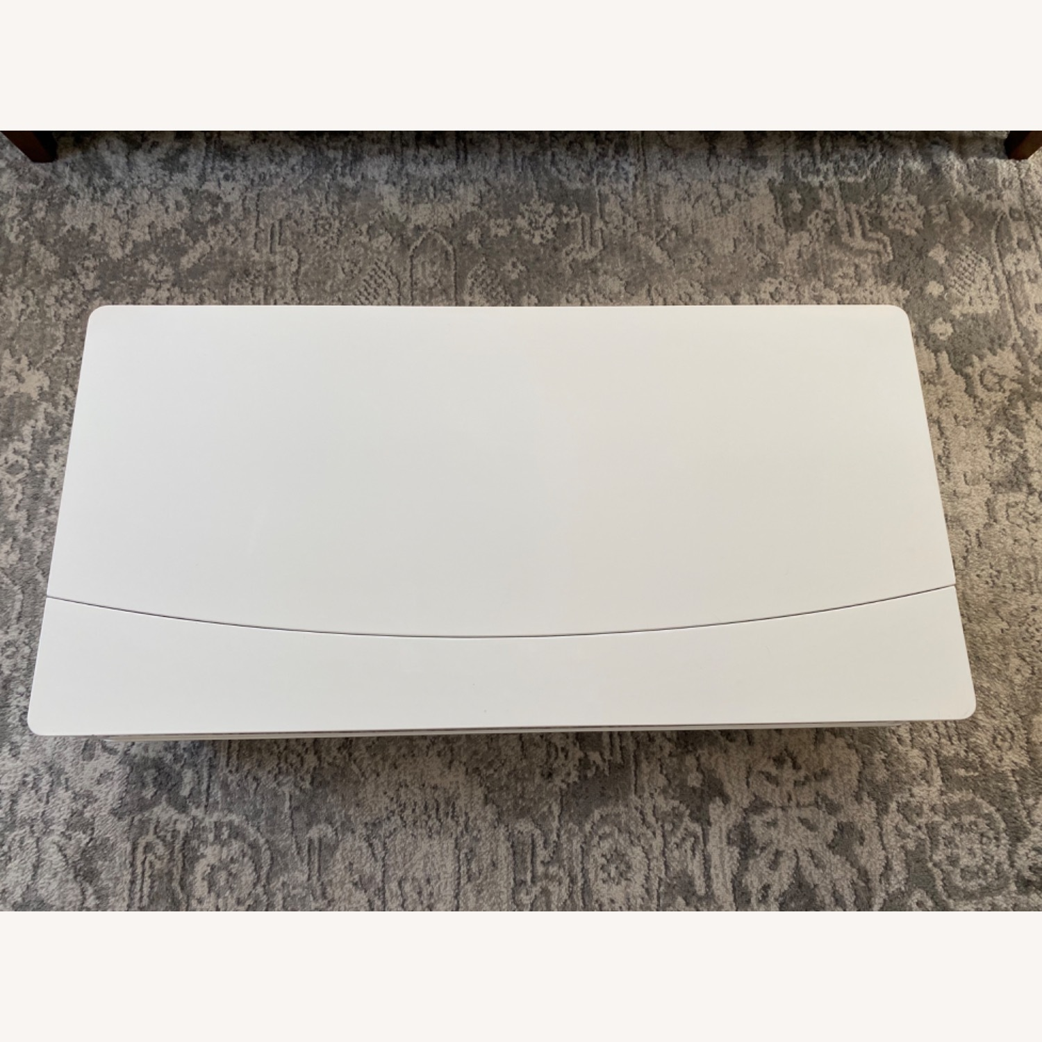 White Lacquer Lift Top Coffee Table - image-1