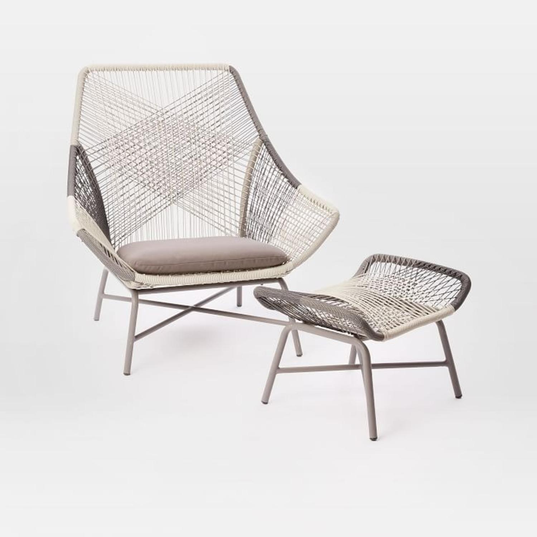 West Elm Huron Large Lounge Chair + Ottoman - image-3