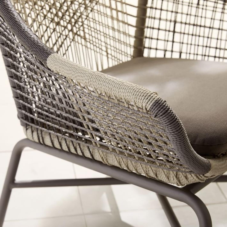 West Elm Huron Large Lounge Chair + Ottoman - image-2