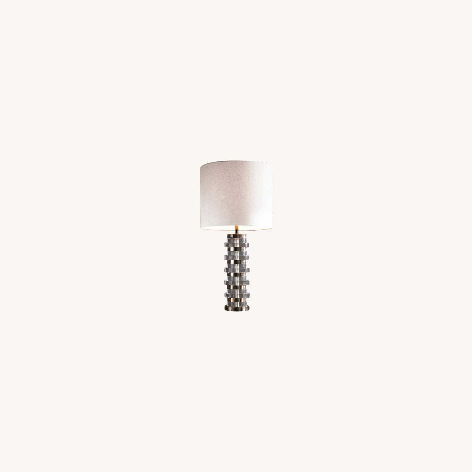 West Elm Clear Disc Table Lamp - image-0