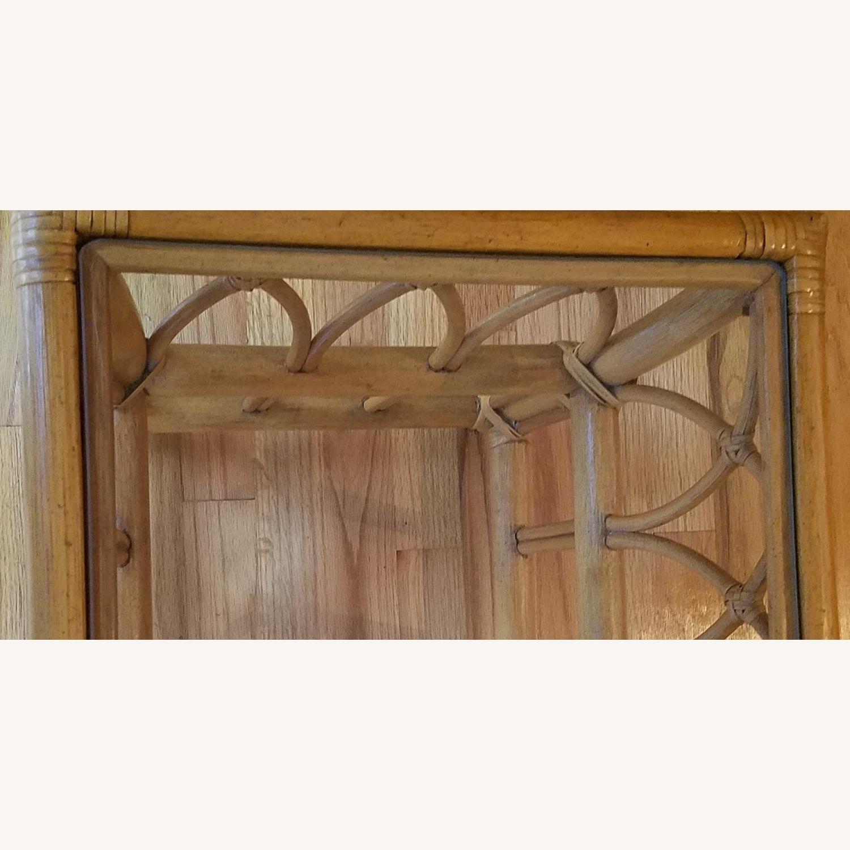 Vintage Boho Rattan Accent Table - image-3