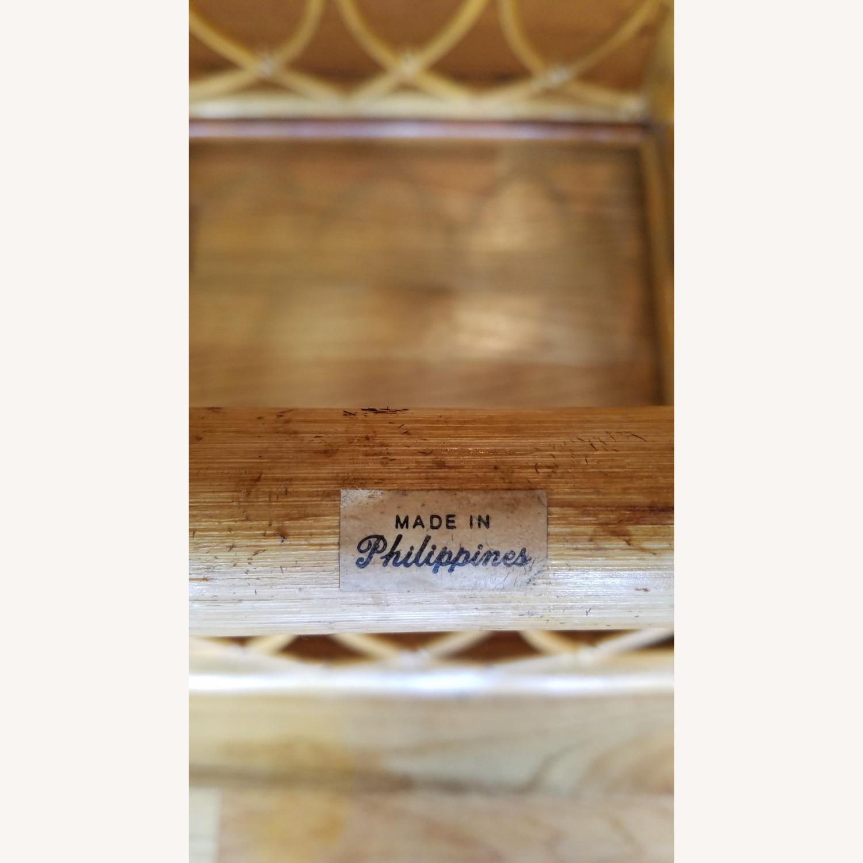 Vintage Boho Rattan Accent Table - image-2