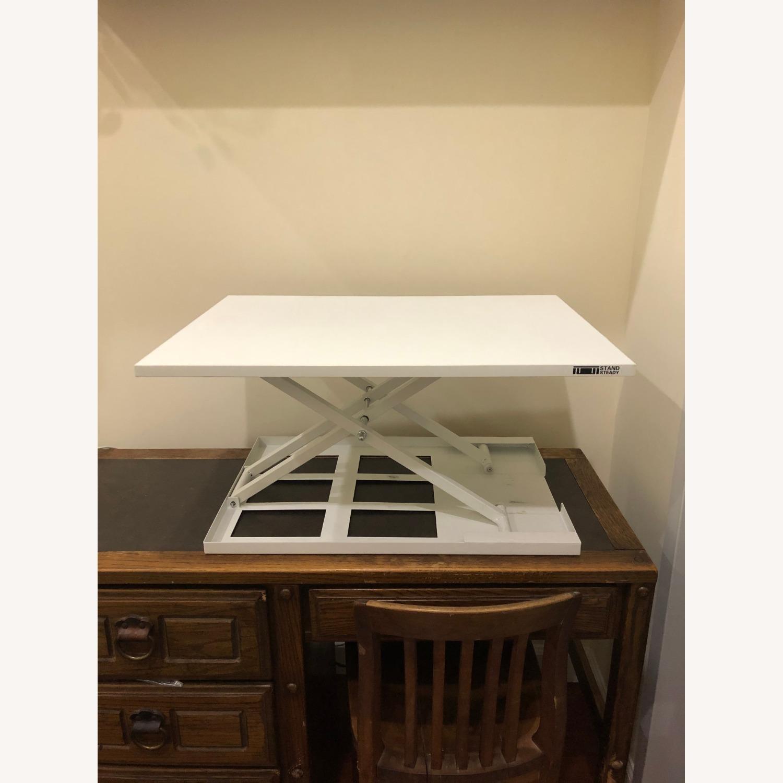 Sturdy Standing Desk Converter White - image-4