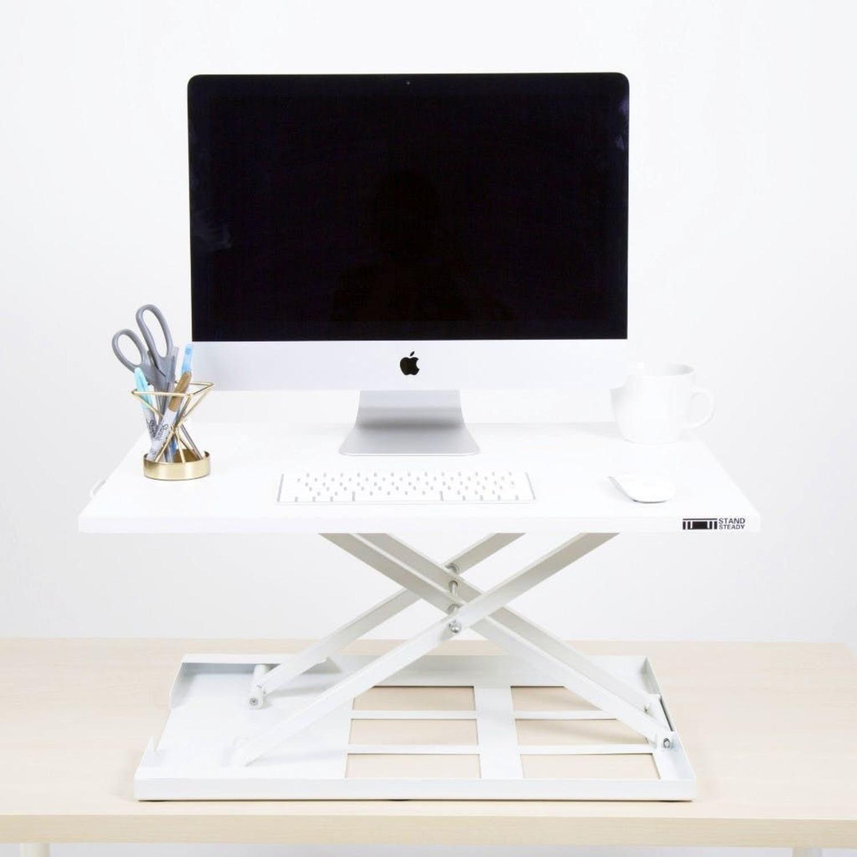 Sturdy Standing Desk Converter White - image-1