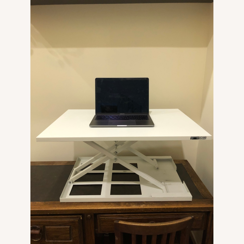 Sturdy Standing Desk Converter White - image-5