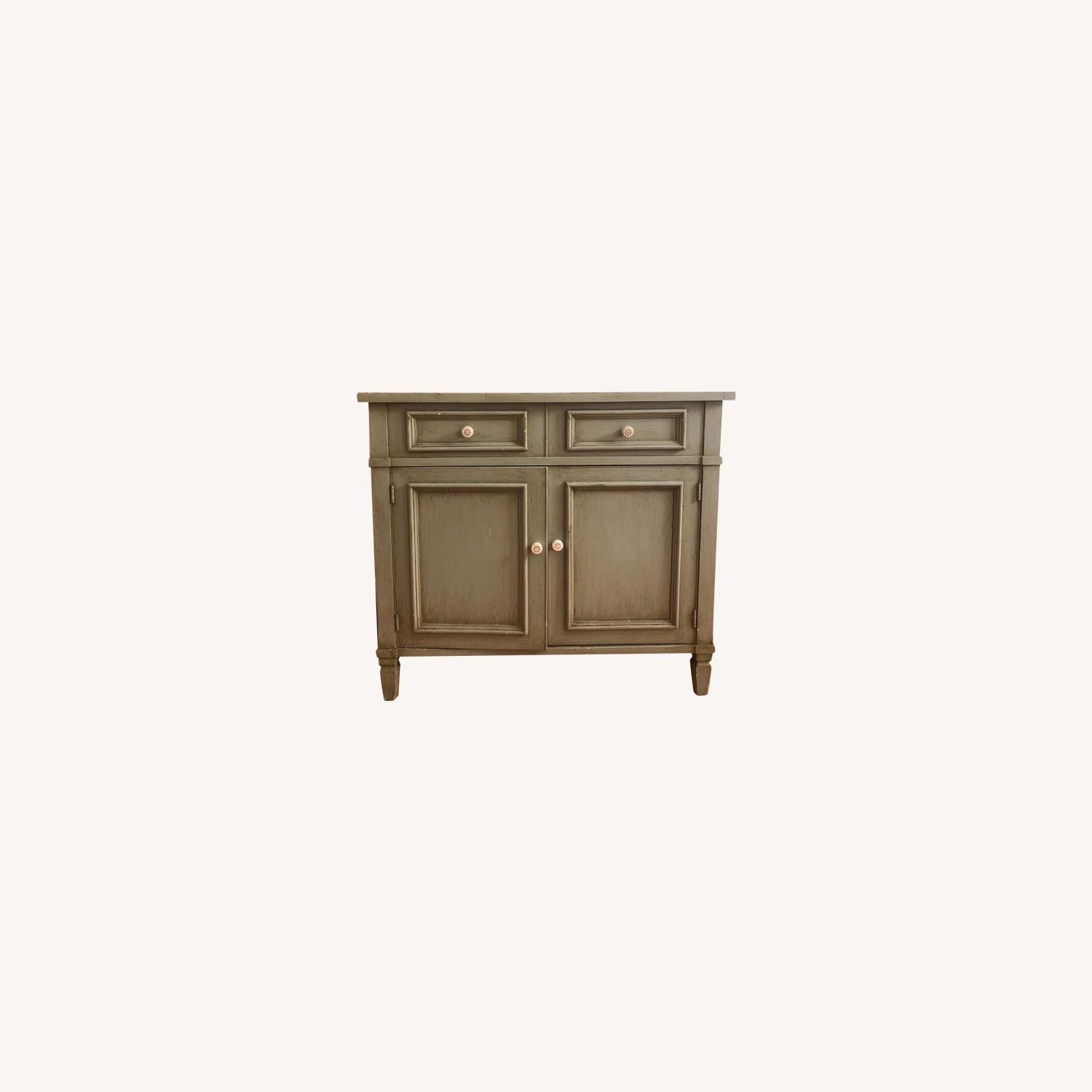 Distressed Wood Cabinet - image-0