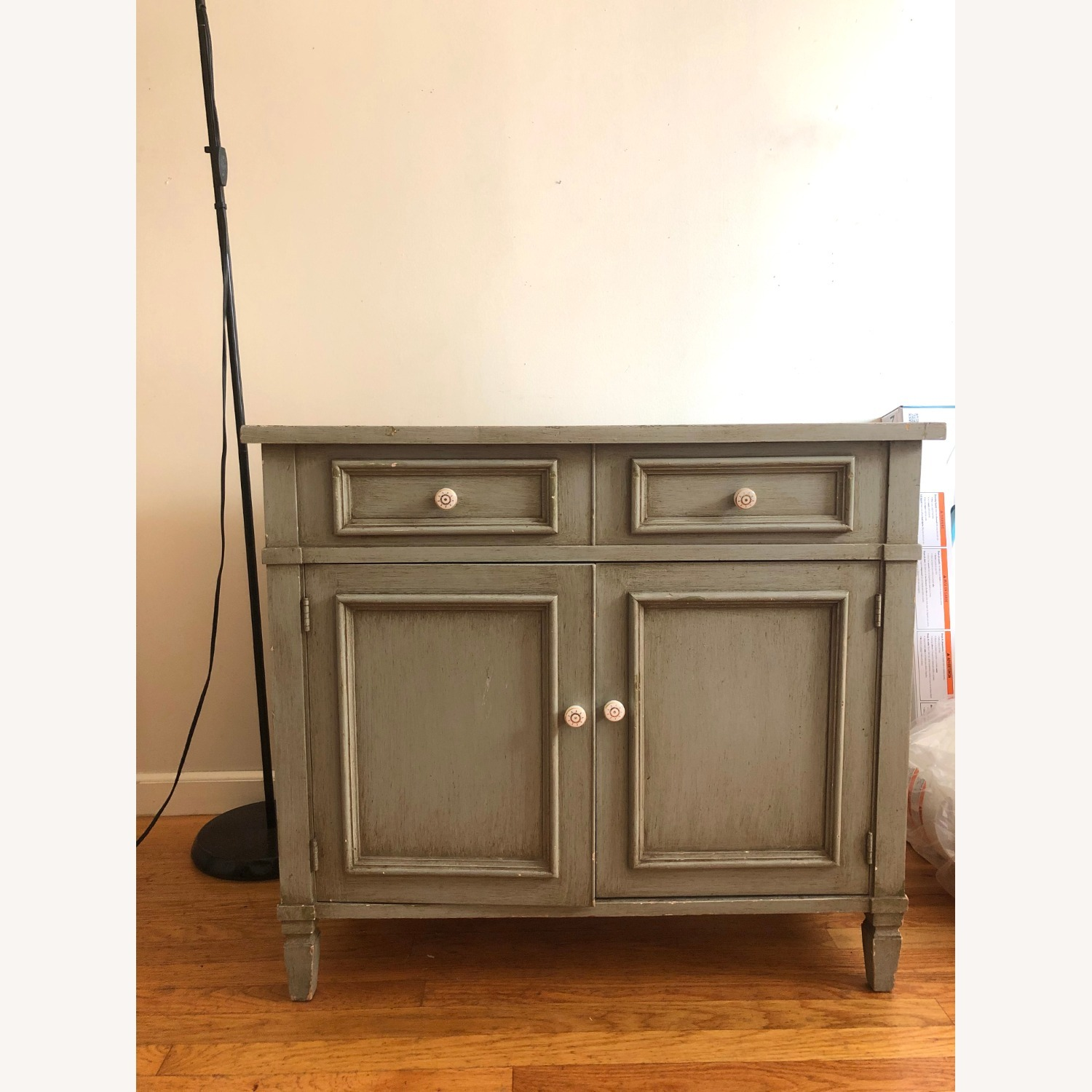 Distressed Wood Cabinet - image-1