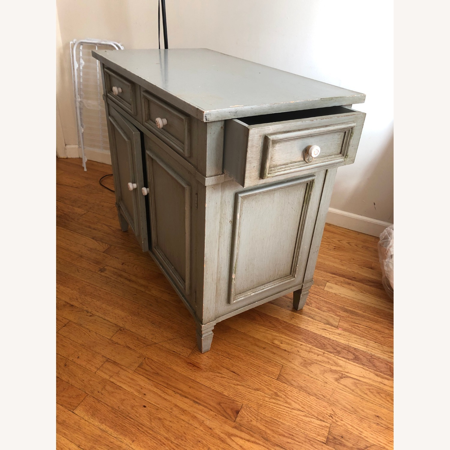 Distressed Wood Cabinet - image-2