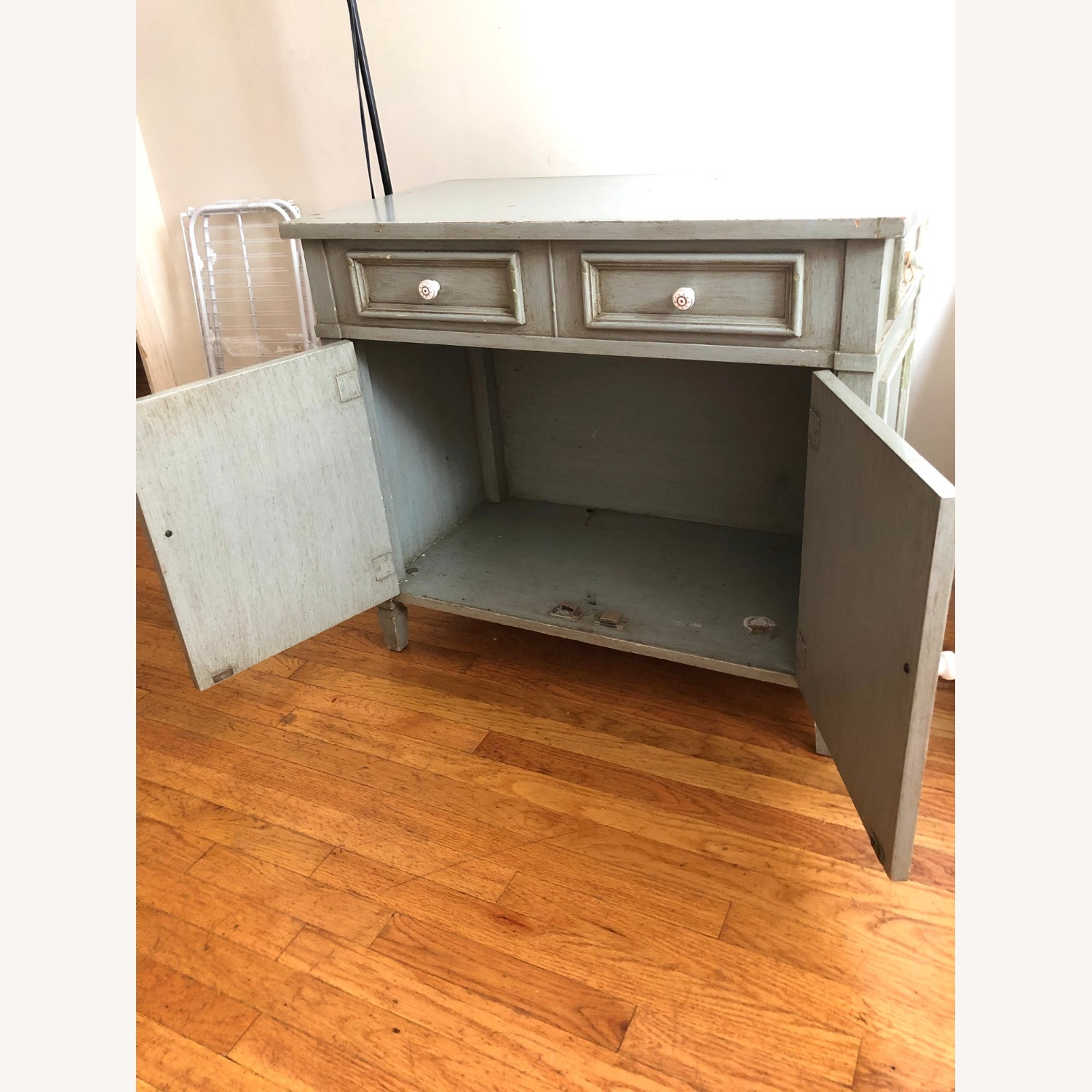 Distressed Wood Cabinet - image-7