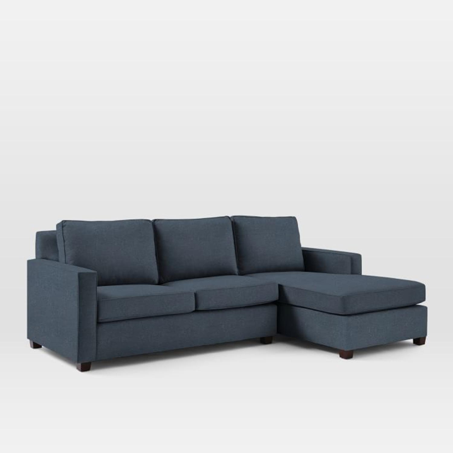 West Elm Henry L-Shaped Sofa in Blue Twill - image-1