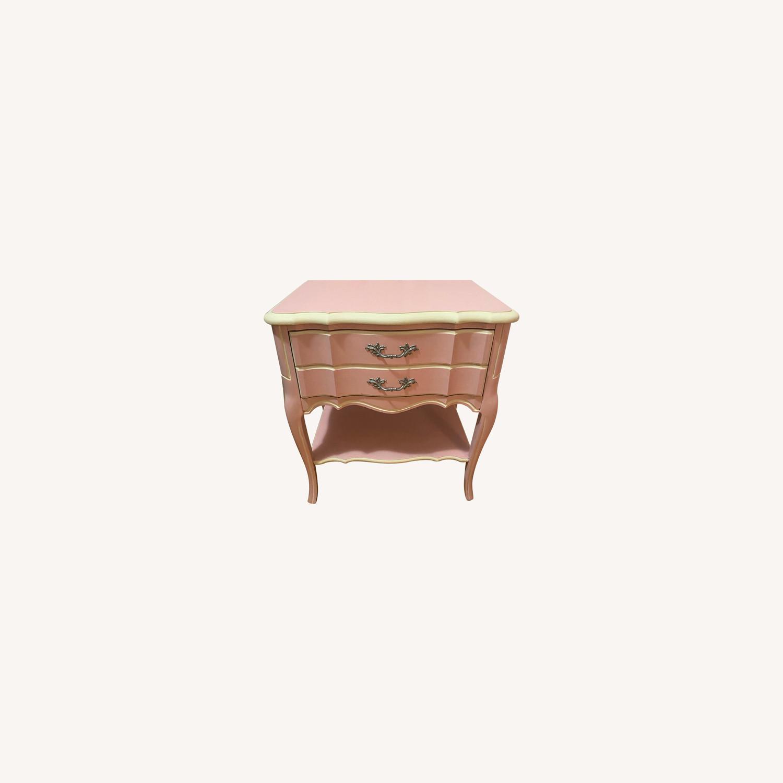 Vintage Restored Wooden Nightstand - image-0