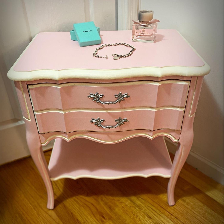 Vintage Restored Wooden Nightstand - image-6