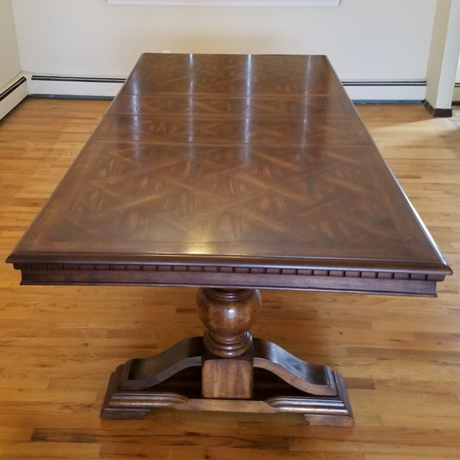 Double Pedestal Dining Table w/ 8 Cane Back Chairs - image-18