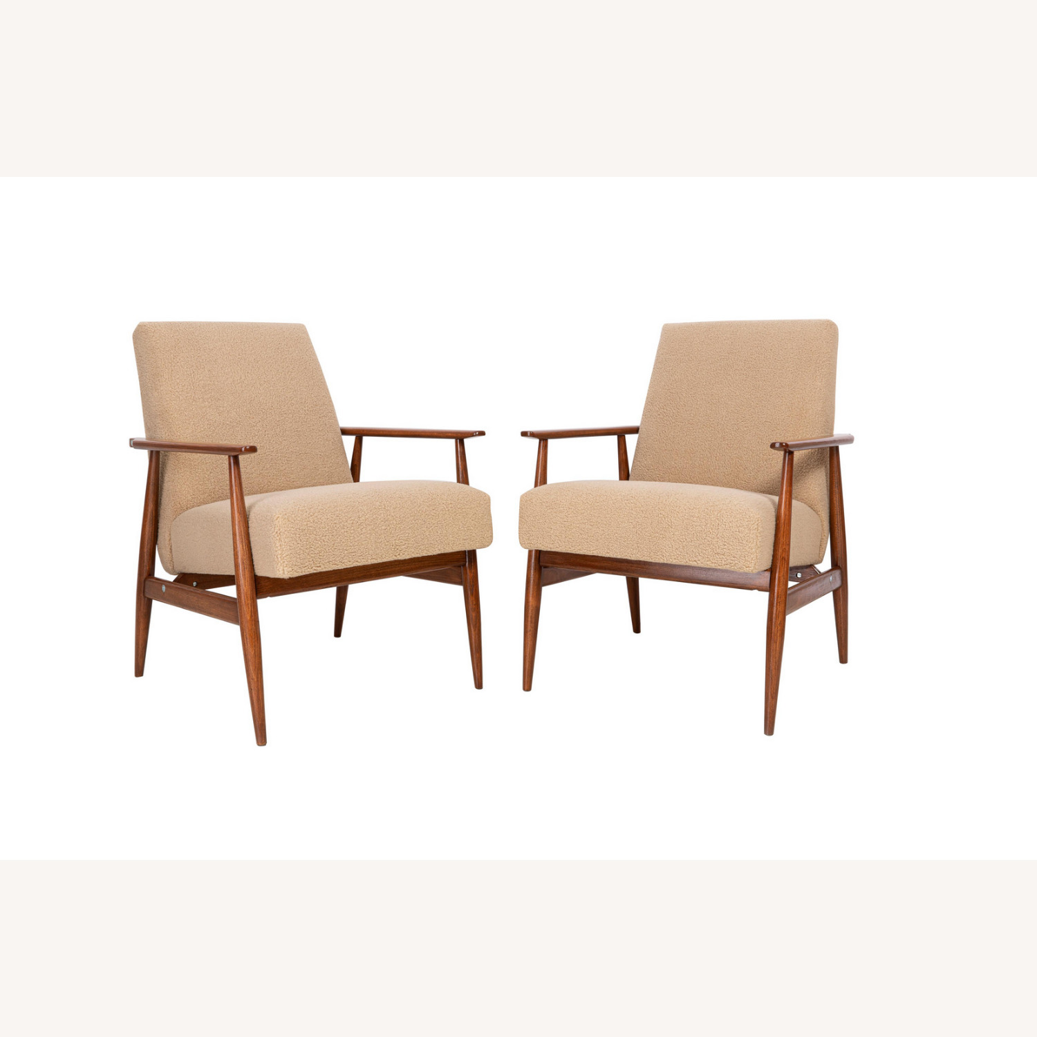 Pair of Mid Century Modern Armchairs, 1960s - image-3