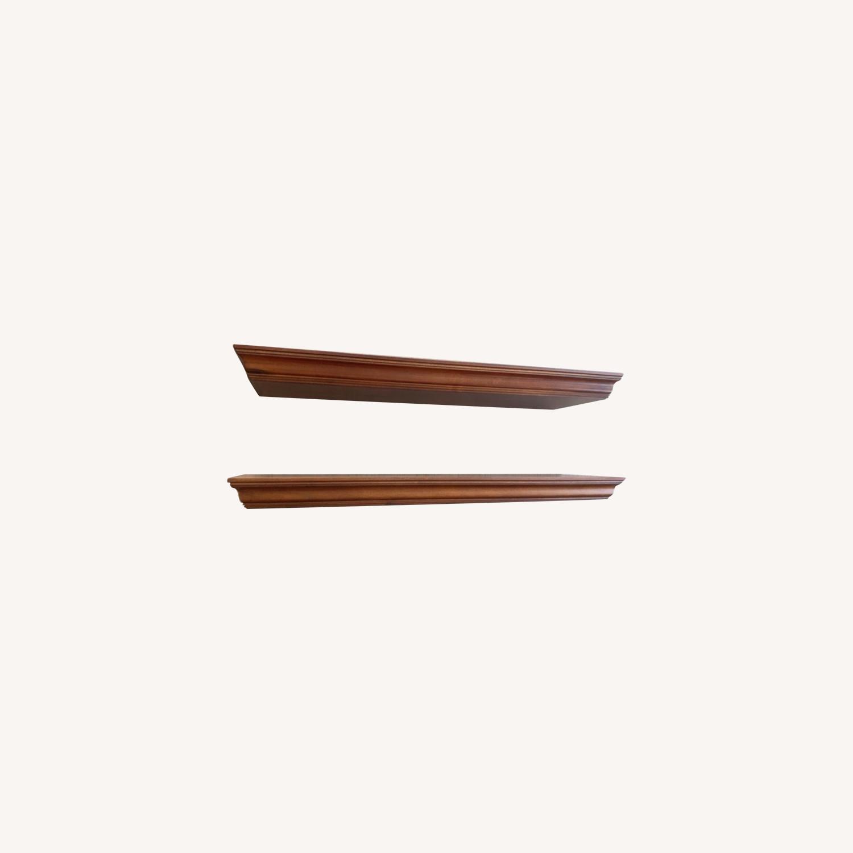 Pottery Barn Crown Molding Shelf Pair - image-0