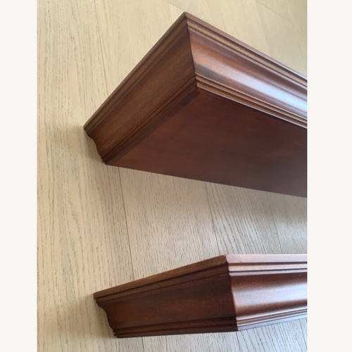 Used Pottery Barn Crown Molding Shelf Pair for sale on AptDeco
