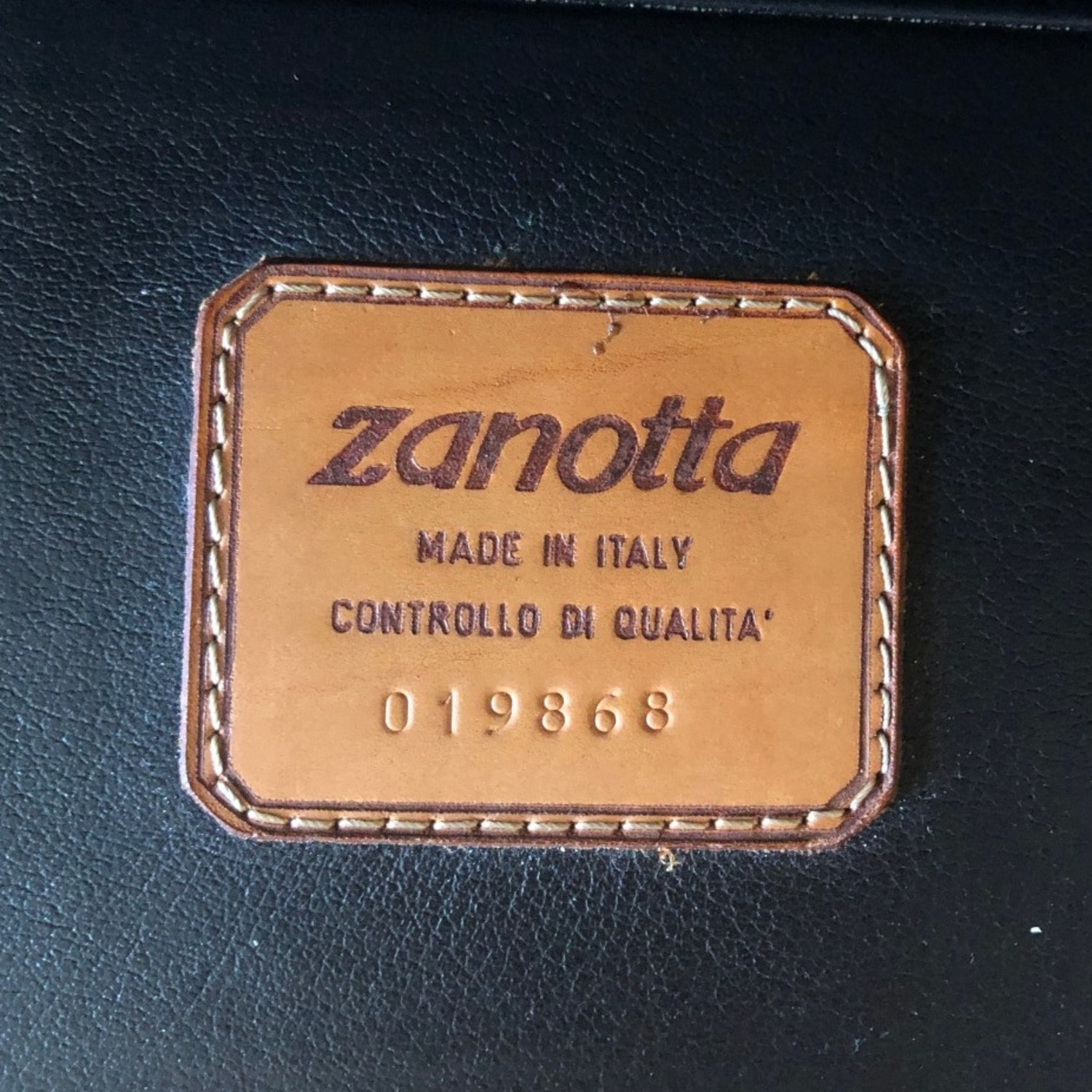 Zanotta Black Leather Sofa - image-6