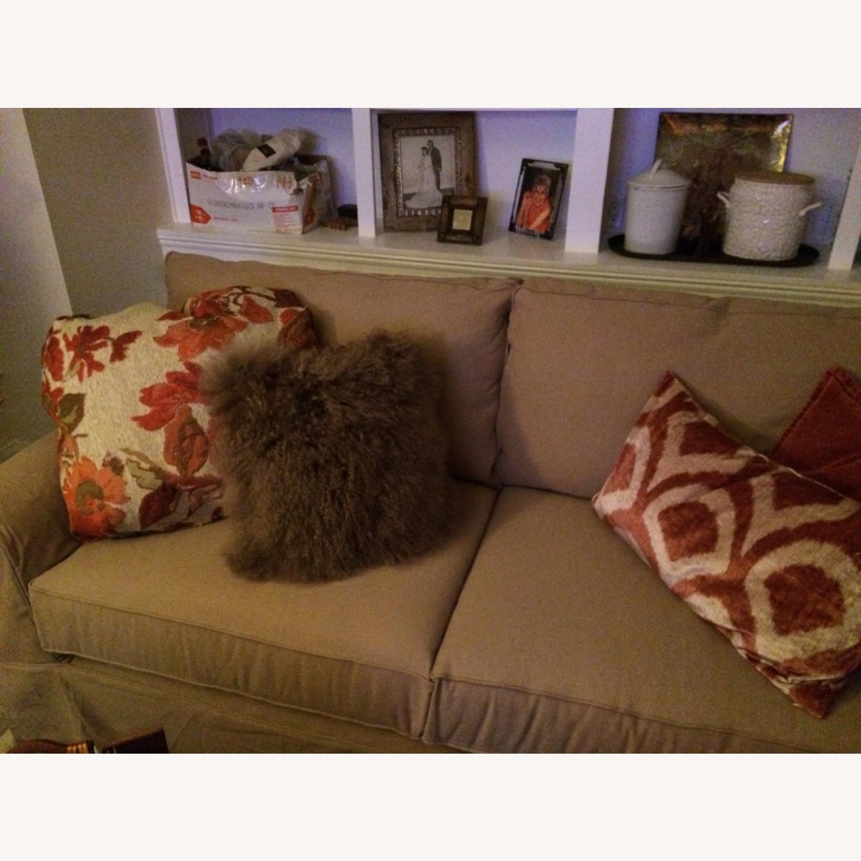 Pottery Barn Roll Arm Slipcover Sofa - image-2