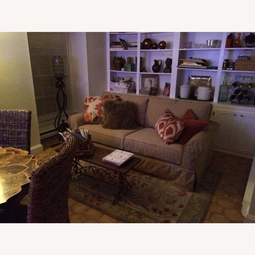 Used Pottery Barn Roll Arm Slipcover Sofa for sale on AptDeco
