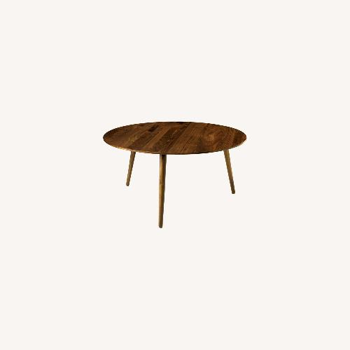 Used Article American Walnut Coffee Table (Round) for sale on AptDeco