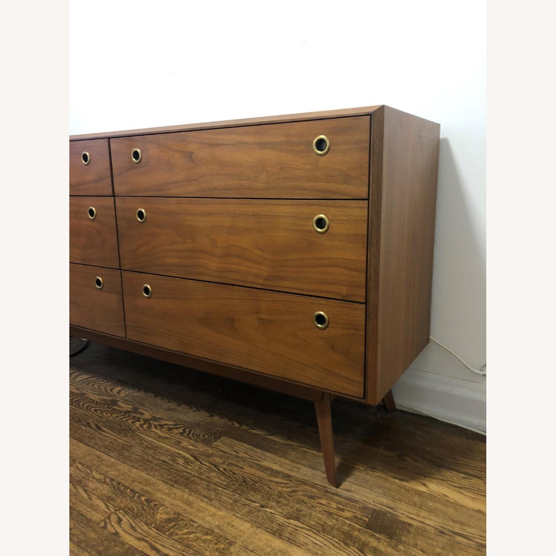 West Elm Mid-Century 6 Drawer Dresser Walnut - image-3