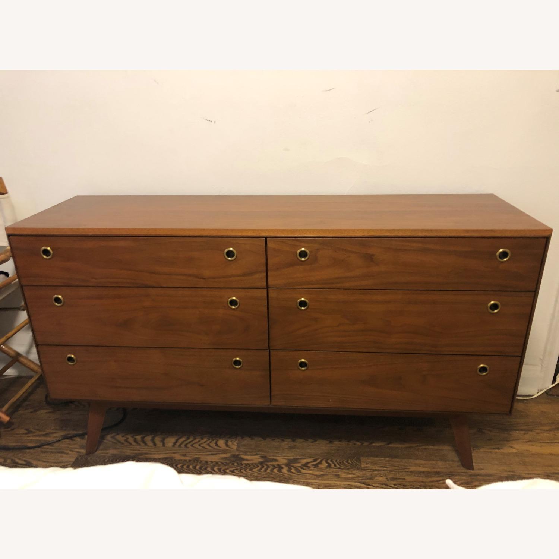 West Elm Mid-Century 6 Drawer Dresser Walnut - image-2